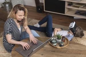 mother-enjoying-working-from-home